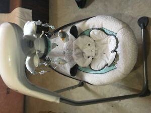 Fisher-Price My Little Lamb Cradle n Swing, excellent condition
