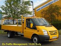 2013/ 13 Ford Transit 125 T350 EF Dropside Alloy body Rwd Low Miles