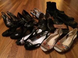 Size 9.5 - 10 pairs brand name shoes/sandals ALL for $15
