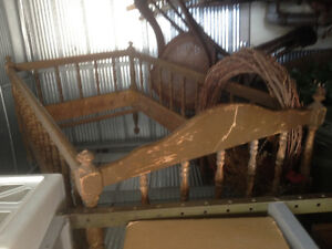 Antique wood crib