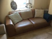 Large M&S leather settee