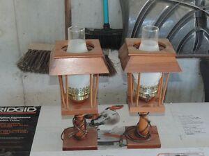 LAMPES DE CHEVETS COLONIALE