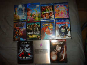 DISNEY AND OTHER BLURAYS&DVDS&TV SHOWS&TRILOGIES