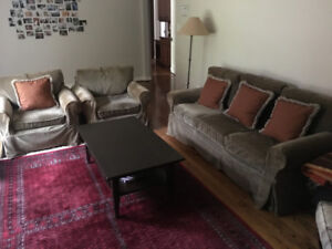 Pottery Barn Furniture (Couch, Chaise, Coffee table)