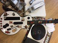 Wii plus guitar hero, dj hero, Wii fit and games