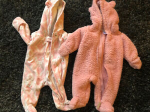 2 0-3 month Carters fleece outfits