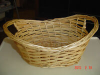 4 DIFFERENT STYLES OF WICKER WOVEN BASKETS FOR GIFTS OR CRAFTS