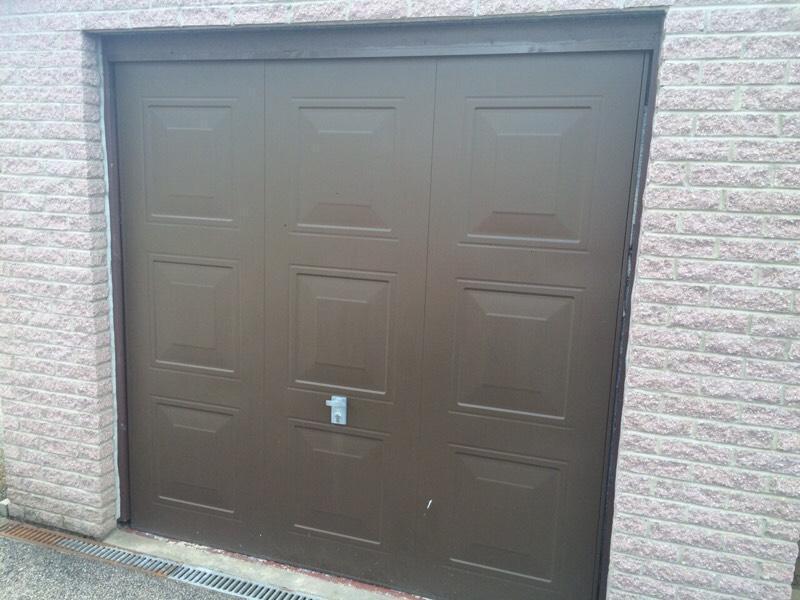Garage door brown 7 x 7 in westhill aberdeenshire for 10 by 7 garage door