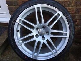 "Genuine Audi A4 / A6 Le Mans 19"" set of 4 wheels and tyres"