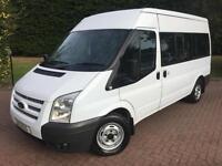 Ford Transit 9 seat shuttle bus mwb 2.2 tdci 125bhp