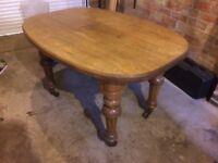 Antique solid oak table