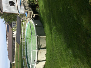 NEED GONE!4' x 25' round pool with pump, filter and solar heater