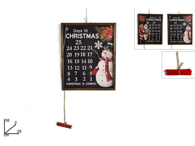 Calendario dell'avvento lavagnetta per natale decorazioni natalizie 36x29cm