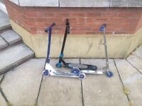 2 stunt scooters and normal scooter for sale make offer