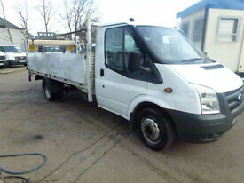 Ford Transit 2.4TDCi Duratorq 350 LWB dropside with taillift 2011 ideal recovery