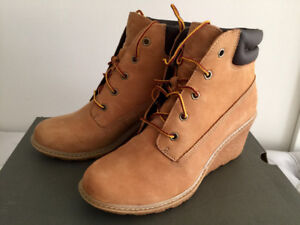 Women's Timberland suede wedge boots