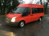 2013 Ford Transit 125bhp 9 seater mwb medium roof minibus NO VAT Minibus Diesel