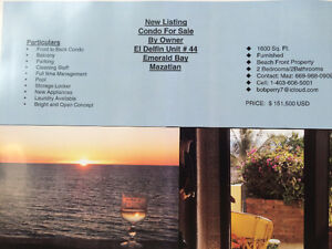 Beach Condo for Sale by Owner Mazatlan, Mexico
