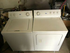 Quick sale Inglis white top load washer gas dryer both 295