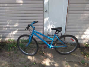 """Used mountain bike with 26"""" tires and 17"""" frame."""