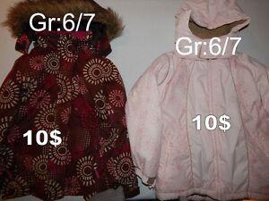 Manteaux d'hiver pour fille Grandeur: 6 et 7 ans