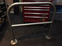 Sheffield + Bilton cycle, bike hoops, rack, post, stainless steel