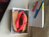 Ladies Red Wedges UK Size 6