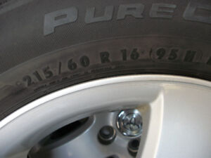 4-215/60r/16 Continental tires on Toyota Camry factory mags