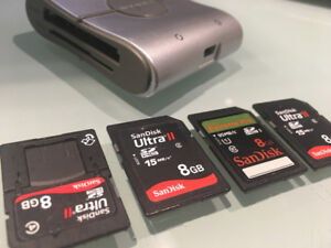 sd cards and reader