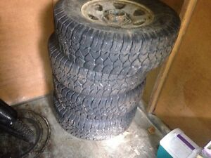 4 Toyota winter tires on rims