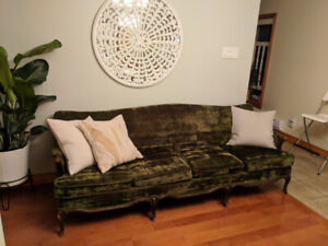 Beautiful Velvet couch and chair for sale!!
