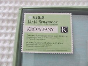 HTF  *NEW* K&Company (from Michaels) Sea Glass 12 x 12 Scrapbook