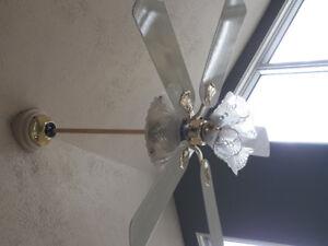 luminaire et ventilateur combiné