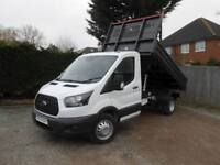Ford Transit 350 L2 RARE ALL STEEL BISON TIPPER 2.0 130ps Euro 6