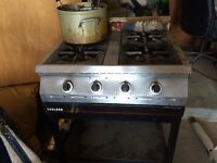 Garland industrial 4 burner gas stove