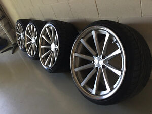 "20"" Vossen CV1 Staggered Rims 5x120"