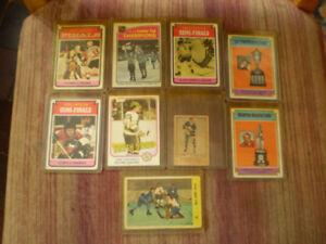 carte vintage 1951-52-57-58-73-74-75-76-81 parkie/opc