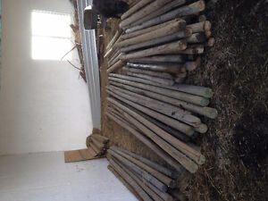 Assorted sizes pressure treated rails and posts