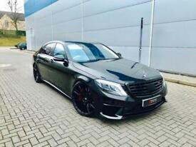 2014 64 Mercedes-Benz S63 L AMG 5.5 585bhp AMG L + Black + HUGE SPEC 3x TVs