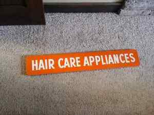 Vintage 3ft Wooden Hair Care Sign