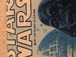 1977 Star Wars twin bed sheets