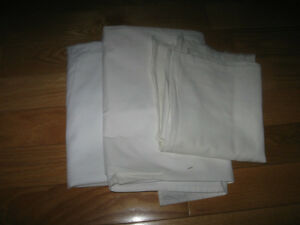REMNANT MATERIAL..3 Pcs. WHITE COTTON