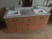 Vanity with double sink