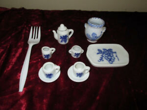 Tiny china doll tea set