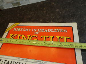 Reproduction of a Vintage History In Headlines of King Tut Book Kitchener / Waterloo Kitchener Area image 7
