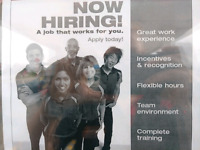 Now Hiring - Part Time Night Shift