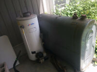 Oil tank and water heater