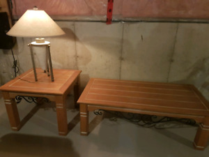 Coffee table with side table