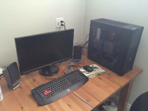 GAMING PC, MONITOR, KEYBOARD AND MOUSE FOR SALE, MUST GO