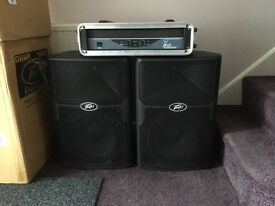 Peavey PVX12 speakers with amplifier